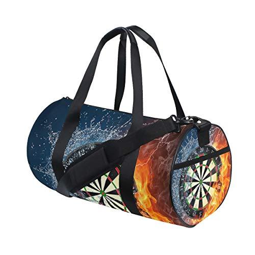 Eslifey Darts on Fire Wasserfarben Fitness Sporttasche Gym Bag Travel Duffel Bag für Herren und Damen