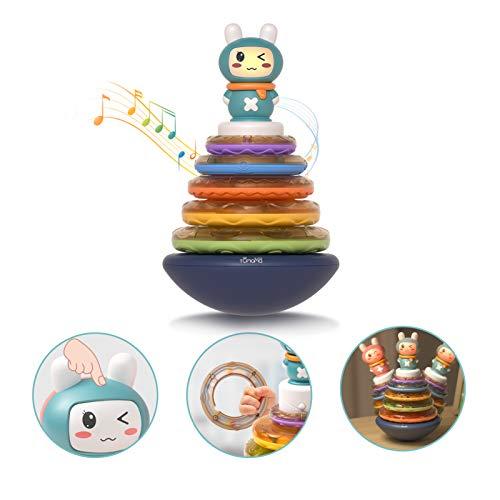 TUMAMA Baby Musikspielzeug,Baby rassel Spielzeug,Baby stapeln Spielzeug,Babyspielzeug Kleinkindspielzeug, Stapelspielzeug für Babys und Kleinkinder,musikinstrumente für Kinder