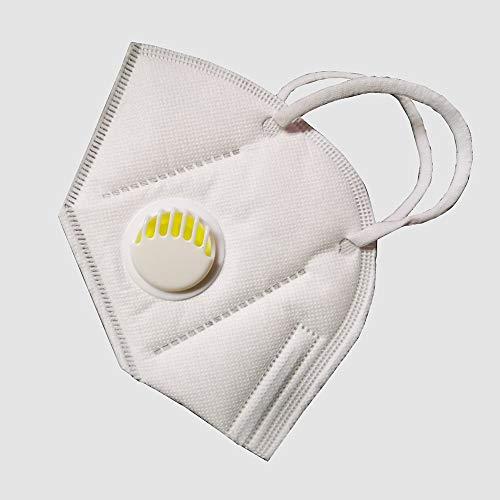 ERWEF FFP2, blanco (5 piezas/caja), con válvula de respiración para evitar el polvo y el humo, PM2.5