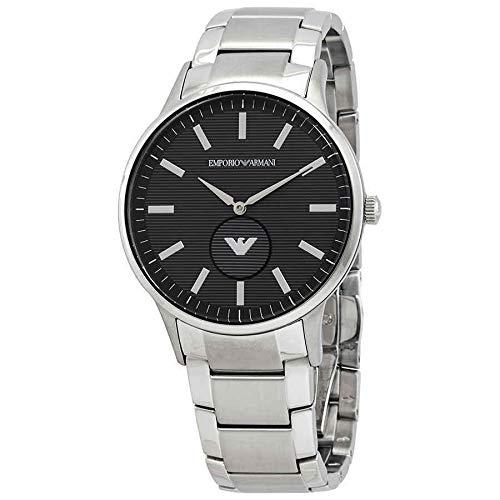 Uniqui shop Nieuwe Emporio Armani Heren Jurk AR11118 Quartz Horloge met roestvrij staal Band Zilver met Doos