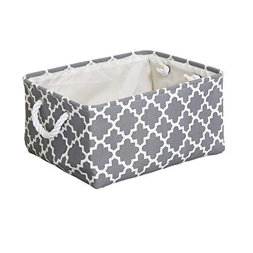 N / A Neue einfache Stil Faltbare Leinwand Stoff Aufbewahrungsbox Kleidung Spielzeug Aufbewahrungstasche Aufbewahrungstasche Haushalt Wäschekorb mit Griff Aufbewahrungsbox 41x31x20CM