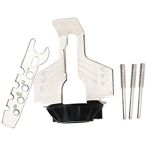 Usuny Kit de afilar motosierra eléctrica amoladora afilar accesorio de pulido conjunto de sierra cadenas herramienta