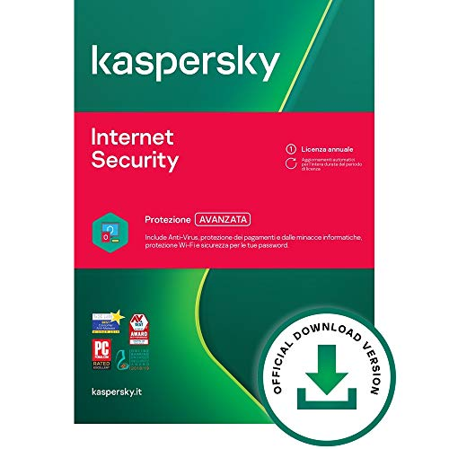 Kaspersky Internet Security 2021 | 2 Dispositivi | 1 Anno | PC / Mac / Android  | Codice...