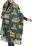 Photo de Echarpe Couverture Châle, Boxed Cats Women's Fashion Cashmere Shawl Wraps Winter Large Scarf