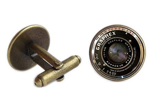 Chen jian xin Vieux objectifs d'appareil photo Boutons de manchette pour hommes Bijoux Vintage lentille de l'appareil photo