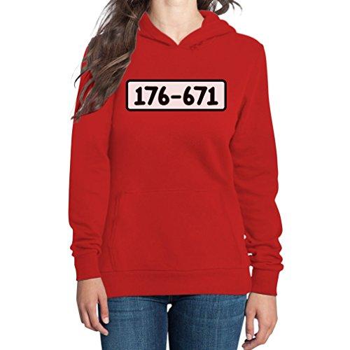 Panzerknacker Shirt Kostüm Karneval Fasching Frauen Kapuzenpullover Hoodie Medium Rot