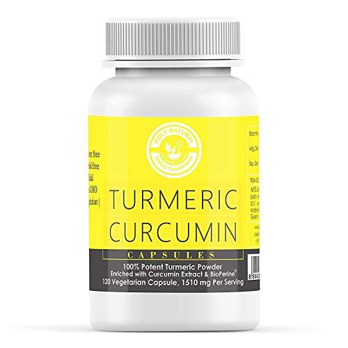 Holy Natural Turmeric Curcumin - 120 Veggie Caps