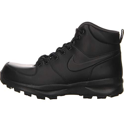 Nike Manoa Leather, Stivali da Escursionismo Uomo, Nero, 45 EU
