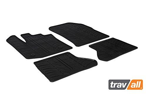 Travall Mats Tapis de Voiture Compatible avec Dacia Dokker (2012 et Ulterieur) TRM1208 - Tapis de Sol en Caoutchouc sur Measure