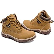 Adokoo Women's Hiking Boots Backpacking Trekking Boots Waterproof Lightweight Ankle Booties(Chestnut,US9)