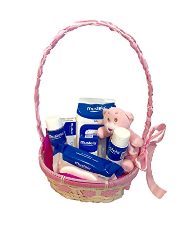 Cesta productos Mustela rosa
