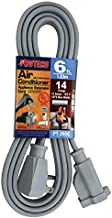 POWTECH Heavy duty 6 FT Air Conditioner and Major Appliance Extension Cord UL Listed 14 Gauge, 125V, 15 Amps, 1875 Watts GROUNDED 3-PRONGED CORD