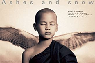 Winged monk Mexico City exhibition (standard poster) (Ashes and Snow Posters)