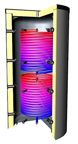 Pufferspeicher 5000 Liter Warmwasserspeicher 2 Solarwärmetauscher Vließ-Isolierung