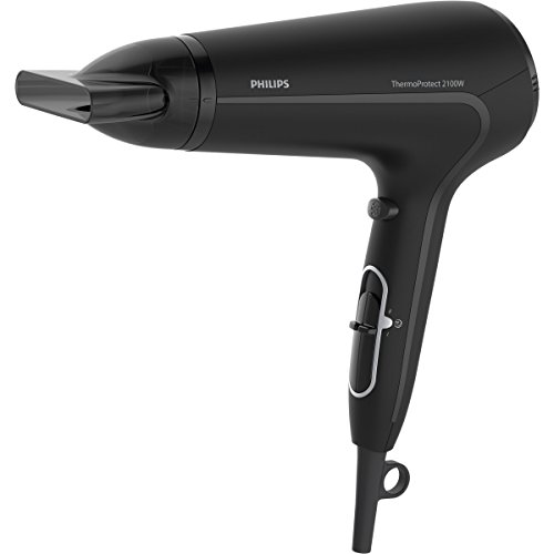 Philips bhd1692100W schwarz–Haartrockner (schwarz, mit Loch in der Griff für Aufhängen, DC, Acrylnitril-Butadien-Styrol (ABS), 2100W, 220–240)