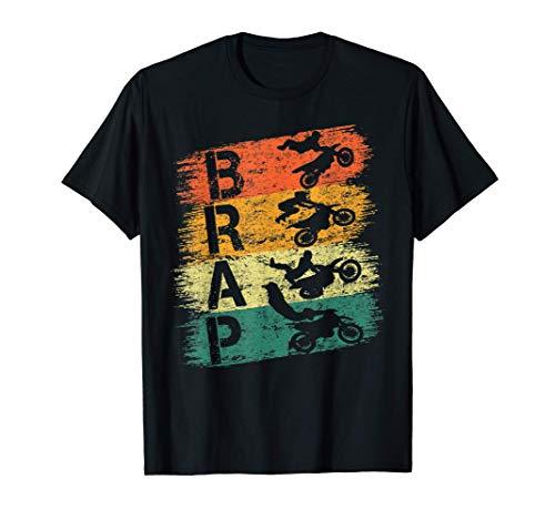 Camiseta Brap Vintage Dirt Bike Motocross Braap Racer Braaap Camiseta