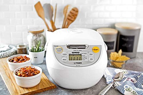 Tiger JBV-S10U Micom Rice Cooker with Tacook Cooking Plate - 5.5Cups - Made in Japan