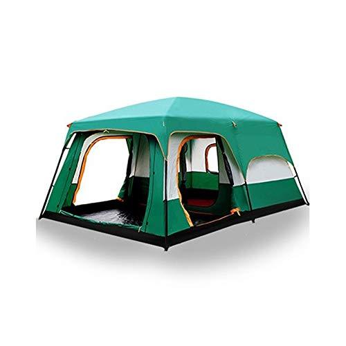 CGSJG Tienda 8-12 Persona Fuera de Nuevo Espacio Grande Camping Exterior de la Tienda de Dos dormitorios Tienda Ultra-Grande Campaña Impermeable de la Tienda