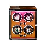 ZNND Watch Caja De Relojes Autornaticos Watch Winder con Motor Silencioso Luces De Colores 5 Modos De Rotación para La Mayoría De Los Relojes De Pulsera (Color : D)