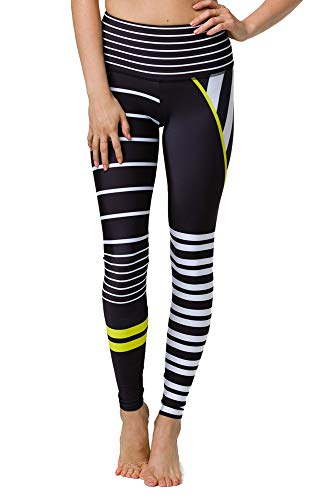 Onzie Damen High Rise Graphic Legging Yoga-Hosen, Linear, X-Large