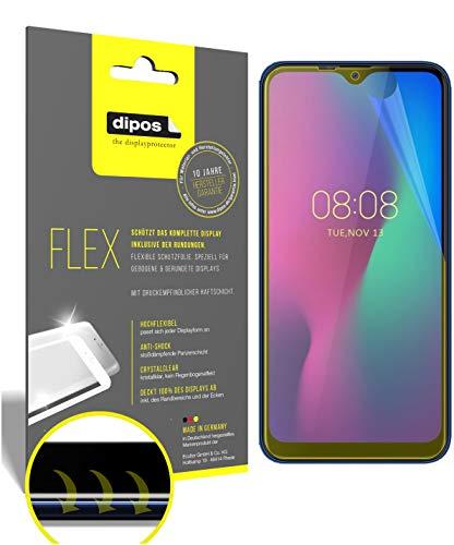 dipos I 2X Schutzfolie 100prozent passend für Ulefone Power 6 Folie I 3D Full Cover Bildschirmschutzfolie