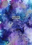 2022: Agenda Settimanale Con Orari 5:00 - 23:00 | Vista Verticale | 1 Settimana Su 2 Pagine | 12 Mesi Planner Intempo| Formato A4 | Diario Caledario Appuntamenti Agenda Giornaliera | Acquerello