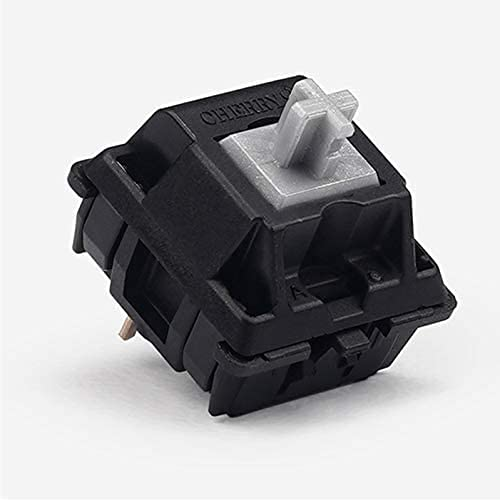 Cherry Mx Switch for Mechanical Keyboard Replacement Part DIY (10 Pcs, Speed Silver (Plate Mount))