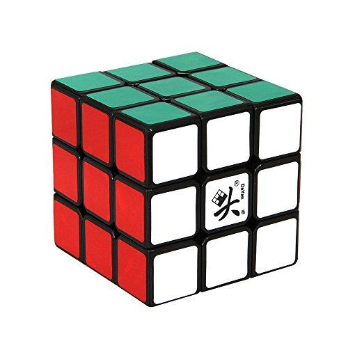 Hometalks®dayan Zhanchi Mágico Cubo 3x3x3 57mm Mágico Cubo velocidad Cubo para regalo de los niños - fondo negro