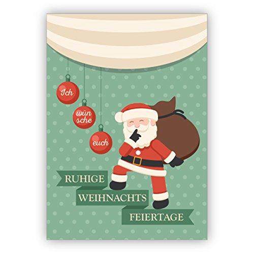 Eichhorn Liebes Kerstkaart op roze: met Kerstmis met heel veel hart • Kerstwenskaarten set met envelop voor Kerstmis, Nieuwjaar, oudejaarsavond voor familie, vrienden, bedrijfcollega's 16 Weihnachtskarten