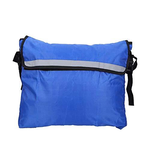 KEENSO Sac de Rangement pour Fauteuil Roulant, Walker Mobility Aids Hanging Bag, Accessory, Waterproof, pour Les Personnes âgées, Les Personnes handicapées(Bleu)