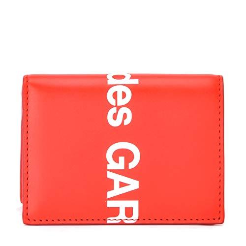Comme des Garçons Wallet Portafogli Huge Logo in pelle rossa