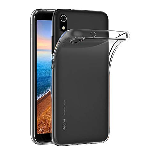 AICEK Hülle Compatible für Xiaomi Redmi 7A Transparent Silikon Schutzhülle für Redmi 7A Hülle Clear Durchsichtige TPU Bumper Xiaomi Redmi 7A Handyhülle (5,45 Zoll)
