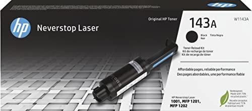 HP 143A W1143A, Negro, Kit de Recarga de Tóner Original, de 2.500 páginas, para impresoras HP Neverstop Laser Serie 1000 y 2000