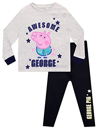 Peppa Pig Pijamas de Manga Larga para niños George Pig Gris 4 - 5 Años