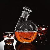 FISISZ Soplador de Vidrio Especial de 500 ml Tapón de Vino de Diamante Cerveza Botella de Agua Decantador de Vino Botella de Cerveza de Vodka-predeterminado