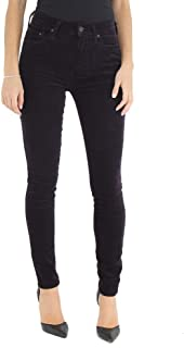 Citizens of Humanity Velveteen Rocket Crop High Rise Skinny Jeans - Women's Designer Denim - in BlackBerry - Made in The USA