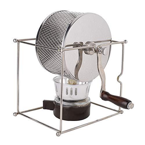 Macchina per la tostatura manuale dei chicchi di caffè Macchina per la cottura a rulli in acciaio inossidabile fai-da-te con manico per Home Office Hotel 1Pc