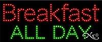 11x 27x 1インチBreakfast All Dayアニメーション点滅LEDウィンドウサイン