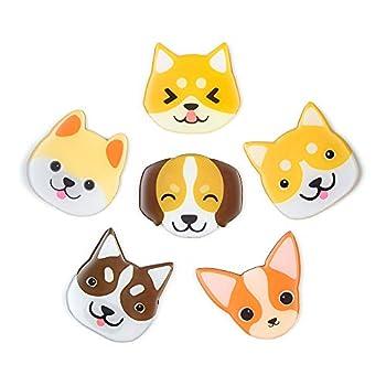Cute Dog Magnets Fridge Refrigerator Decoration 3D Pattern Suitable for Kitchen Locker Office Menu Message Board 6 Pcs