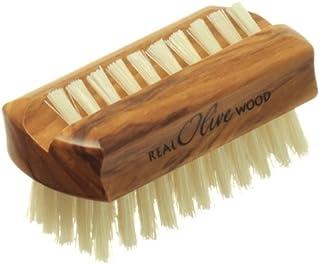 Hydrea London Olive Wood Nail Brush Pure Bristle Travel Size WOH1 Hard Strength