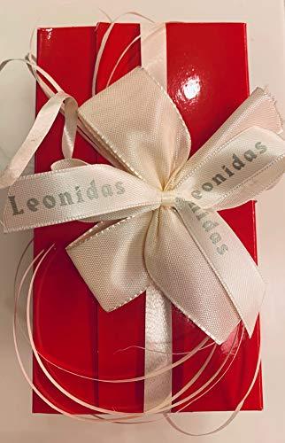 Ballotin rot mit 63 belgischen Pralinen von Leonidas ohne Zuckerzusatz / gesüßt mit Sorbitol und Maltitol / für Diabetiker geeignet / zu Valentin Muttertag Geburtstag / für Verliebte