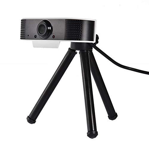 BEPM Webcam Camara Web Webcam con Cámara Web USB 1080P HD Cámara Web De Computadora Cámara Web Portátil con Micrófono Estéreo para Videoconferencia Conferencia Remota-Sol
