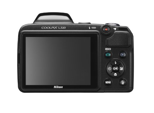 Nikon Coolpix L320 16.1MP Digital Camera with 26x Optical Zoom - BLACK