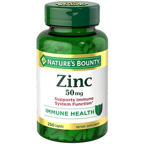 Nature's Bounty Zinc 50 mg Caplets 250 ct