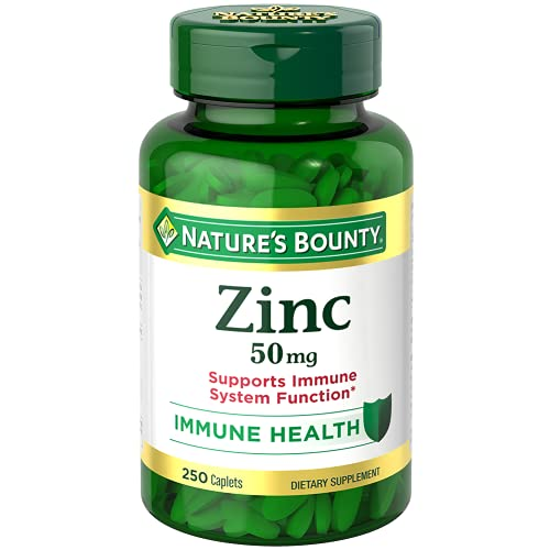 Nature's Bounty Zinc Caplets(Packaging May Vary)
