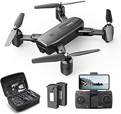 DEERC D30 Foldable Drone with 1080P FPV HD Camera for Adults, RC Quadcopter with Tap Fly, Gesture Control, Altitude Hold, Headless Mode, 3D Flips, Long Flight Time 34mins, Includes Carrying Case