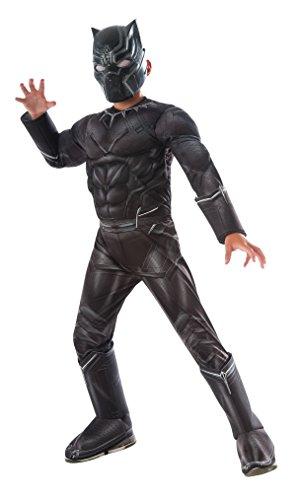 Rubie's 's Disfraz Capitán América: Guerra Civil Deluxe Disfraz de Pantera Negra, Multicolor, Pequeño