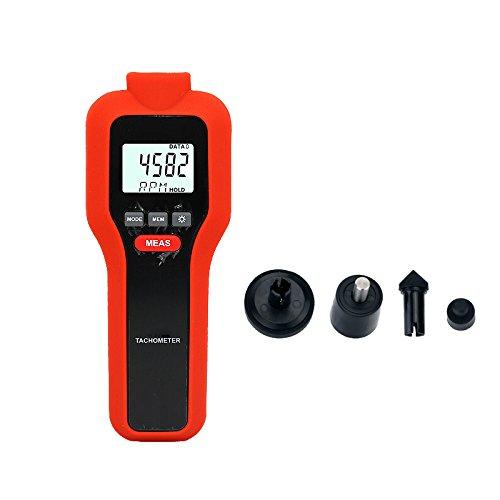 Mengshen Digital Tachometer, 2-in-1 Berührungslos & Kontakt Drehzahlmessung Drehzahlmesser