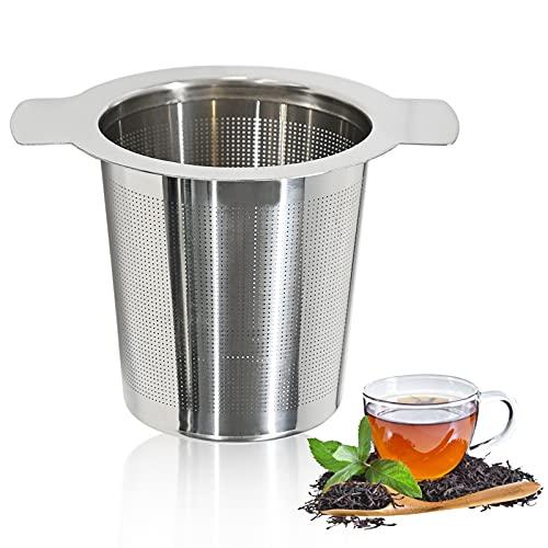 Teesieb, Teebeutel für Losen Tee, Edelstahl Teeei mit Doppelgriffen, Teefilter Teeei, für Losen Tee, Getreide Teekanne und Tassen