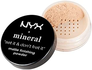 NYX Professional Makeup Mineral Finishing Powder, Light/Medium, 0.28 Ounce